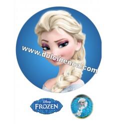Impresión en Oblea trenza Elsa