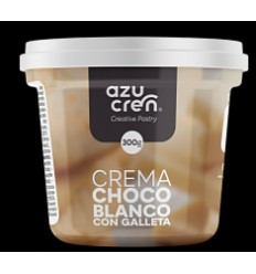 Frosting crema chocolate Blanco con Galleta, 300 gr
