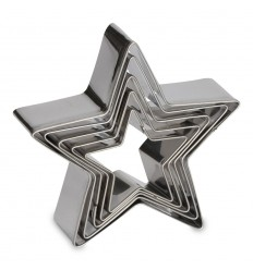 Set de Cortadores Estrellas, 5 ud