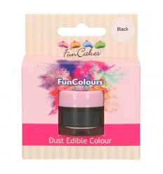 FunCakes Edible FunColours Dust - Negro