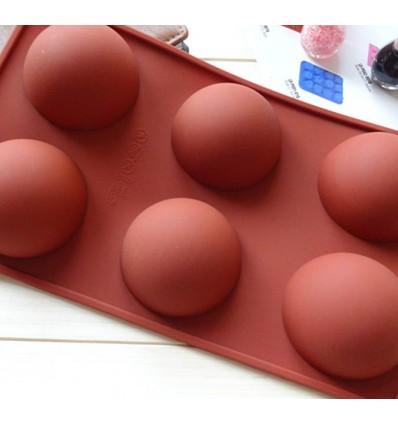 Molde de silicona semi esferas 6.5 cm