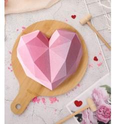 Molde silicona corazón Piñata con 5 martillos