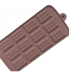 Molde sliconas tabletas chocolate mini
