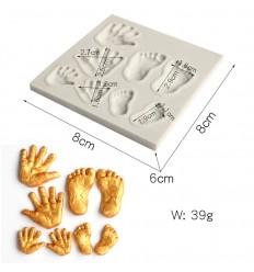 Molde siicona manos y Pies