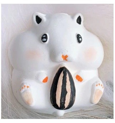 Molde silicona Hamster con pipa