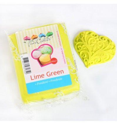 Fondant Funcakes verde lima