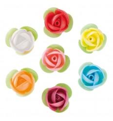 Surtido rosas de colores 3.5 cm- Oblea 14 Ud