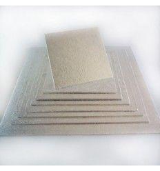 Base para tartas plateada cuadrada 32,5 x 32,5 (4 mm)