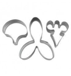 Cortador orquidea - 3 piezas