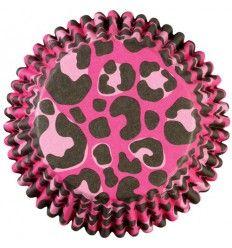 Cápsulas Wilton leopardo rosa