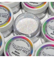 Sparkles hologram blanco